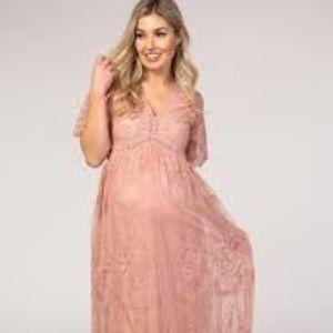 NewPinkBlush Lace Mesh Overlay  Light Pink